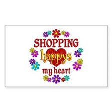 Shopping Happy Decal