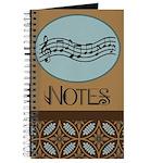 Musician Staff Notes Journal