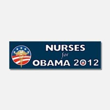Nurses For Obama With Caduceus Car Magnet 10 x 3
