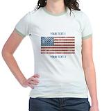 American flag Jr. Ringer T-Shirt