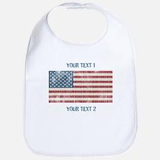 Vintage American Flag Bib