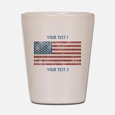 Vintage American Flag Shot Glass