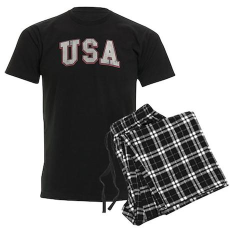 Vintage Team USA Men's Dark Pajamas