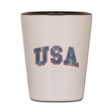 Vintage Team USA Shot Glass