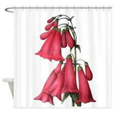 Antique Penstemon Print Shower Curtain