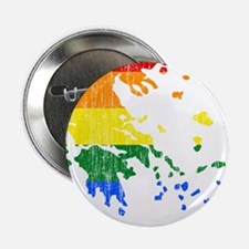 "Greece Rainbow Pride Flag And Map 2.25"" Button (10"