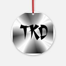 Faux Metallic Silver TKD Ornament (Round)