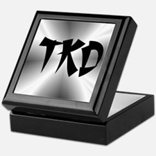 Faux Metallic Silver TKD Keepsake Box