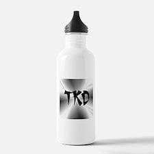 Faux Metallic Silver TKD Sports Water Bottle