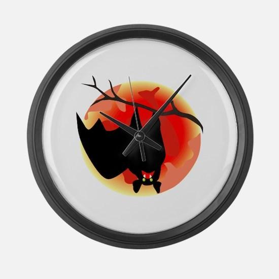 Bat Large Wall Clock