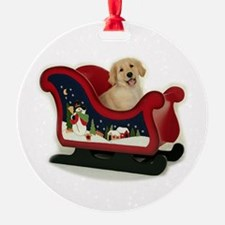 Golden Puppy Ornament