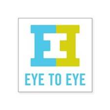 "Eye to Eye Square Sticker 3"" x 3"""