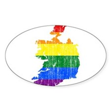 Ireland Rainbow Pride Flag And Map Decal