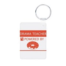 Drama Teacher Powered By Doughnuts Keychains