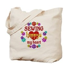 Sewing Happy Tote Bag