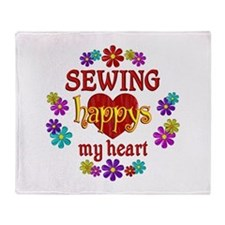 Sewing Happy Throw Blanket