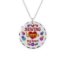 Sewing Happy Necklace