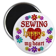 """Sewing Happy 2.25"""" Magnet (100 pack)"""