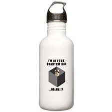 Schrodinger's Quantum Cat Sports Water Bottle