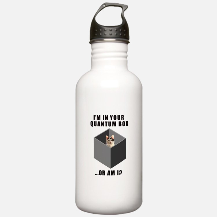 Schrodinger's Quantum Cat Water Bottle