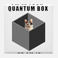 Schrodinger's Quantum Cat Tile Coaster