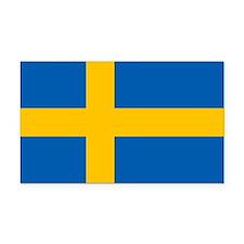 Sweden Rectangle Car Magnet