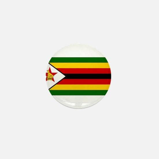 Flag of Zimbabwe - Zimbabwean - Mureza Mini Button