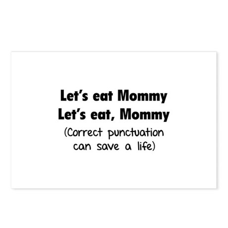 Let's eat Mommy Postcards (Package of 8)