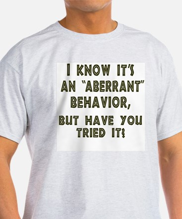 Aberrant 2-Sided Ash Grey T-Shirt