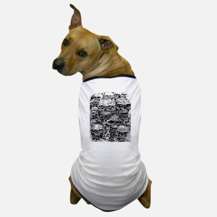 skulls dark ink Dog T-Shirt
