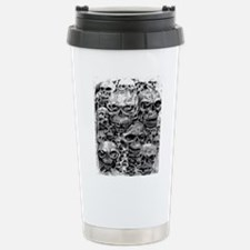 skulls dark ink Stainless Steel Travel Mug