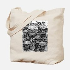 skulls dark ink Tote Bag