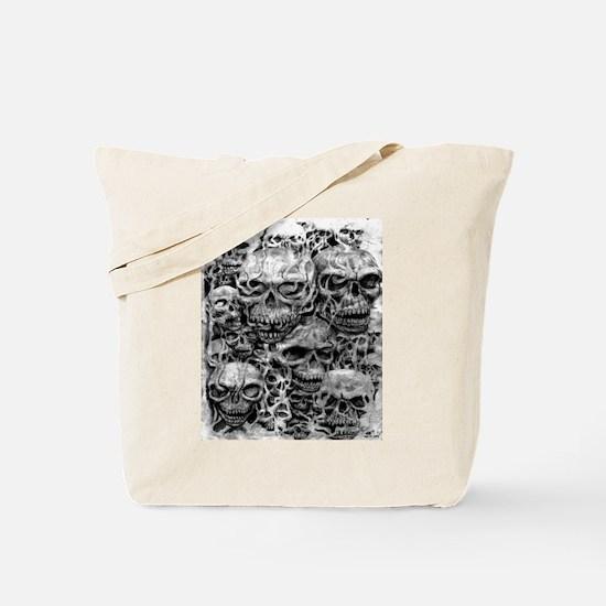 skulls dark ink Tote Bag