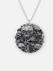 skulls dark ink Necklace