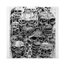 skulls dark ink Queen Duvet