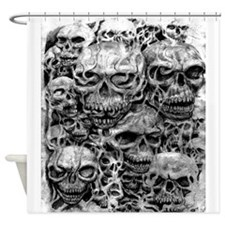 skulls dark ink Shower Curtain