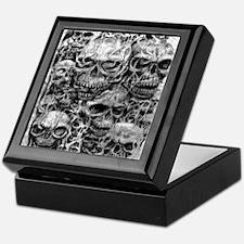 skulls dark ink Keepsake Box