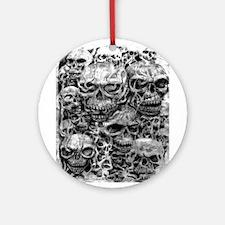 skulls dark ink Ornament (Round)