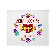 Scrapbooking Happy Throw Blanket