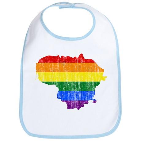 Lithuania Rainbow Pride Flag And Map Bib