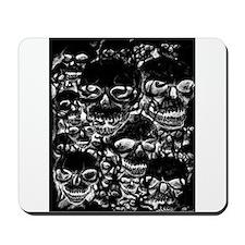 skulls darker ink inverted Mousepad