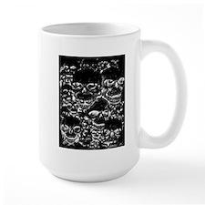 skulls darker ink inverted Mug