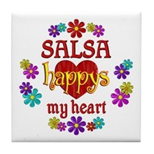 Salsa Happy Tile Coaster