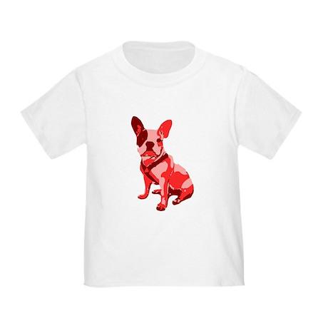 Bulldog Retro Dog Toddler T-Shirt