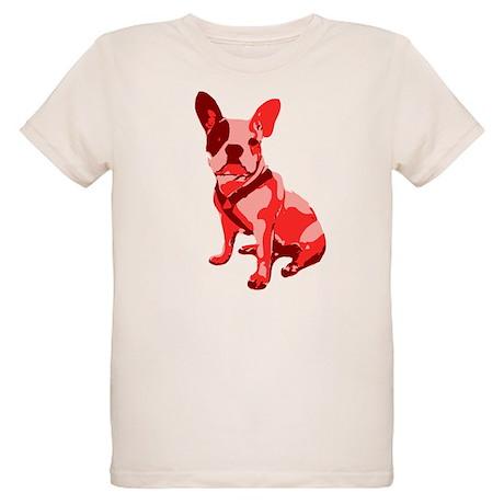 Bulldog Retro Dog Organic Kids T-Shirt