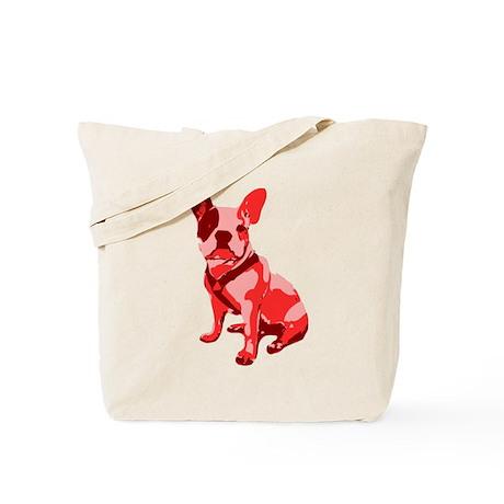 Bulldog Retro Dog Tote Bag