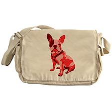 Bulldog Retro Dog Messenger Bag