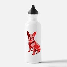Bulldog Retro Dog Water Bottle