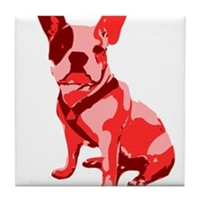 Bulldog Retro Dog Tile Coaster