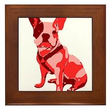 Bulldog Retro Dog Framed Tile